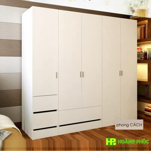 Tủ áo công nghiệp, Tủ Gỗ 5 buồng GHS-5102